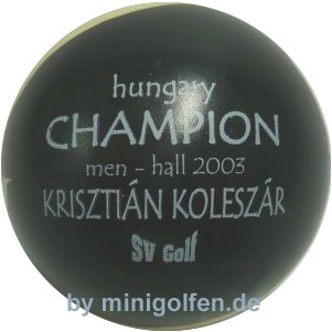 SV Hungary Champion men-hall 2003 Krisztián Koleszár