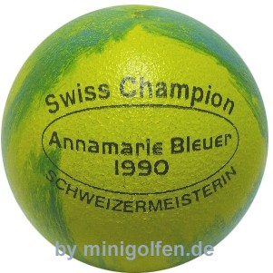 by WH Swiss Champion 1990 Annamarie Bleuer