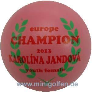 SV Europe Champion youth female 2013 Karolína Jandová