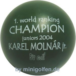 SV 1. world ranking CHAMPION juniors 2004 Karel Molnar