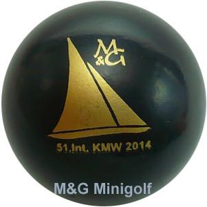 """M&G 51. KMW - Kieler Miniaturgolf Wettspiele """"schwarz"""""""