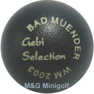 "M&G Gebi Selection - WM 2003 Bad Münder ""blau"""