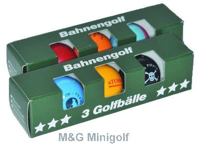 """Starter-Set Minigolfbälle """"Minigolf"""""""
