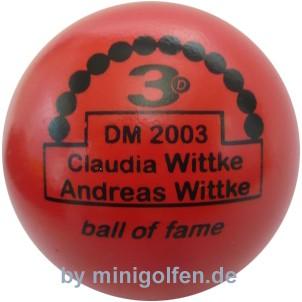 3D BoF DM 2003 Claudia Wittke/ Andreas Wittke