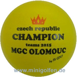 SV Czech Champion teams 2015 MGC Olomouc